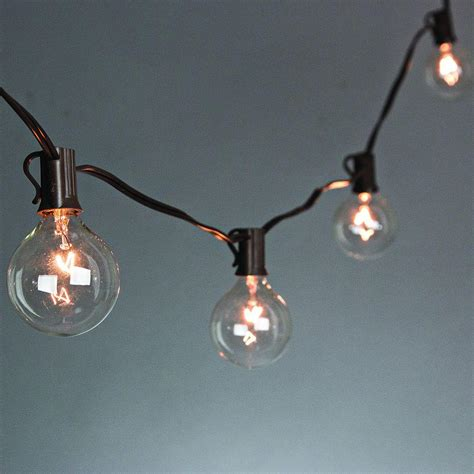 20 light clear patio string to string light set 92883 the home depot