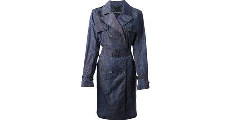 Found A Saucy Leopard Trench Coat by Allegri Leopard Print Trench Coat In Blue Lyst