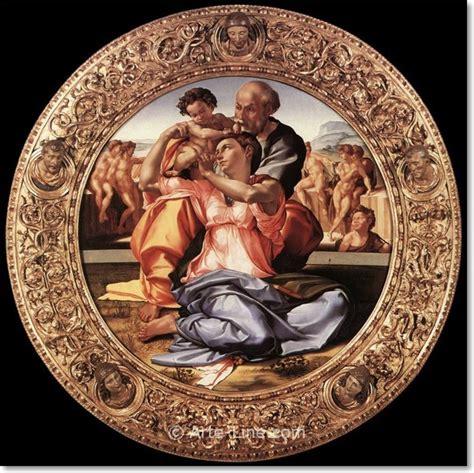 cornice tondo doni michelangelo buonaroti the doni tondo framed arte line