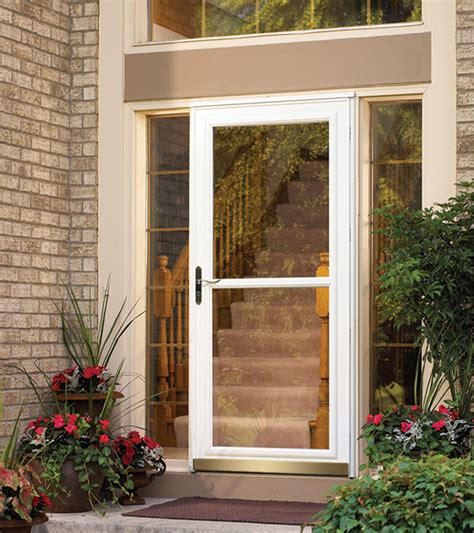 exterior door with window and screen front doors entry doors patio doors garage doors