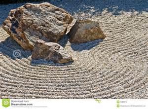 Rock And Gravel Japanese Rock Gravel Garden Stock Image Image 4283013