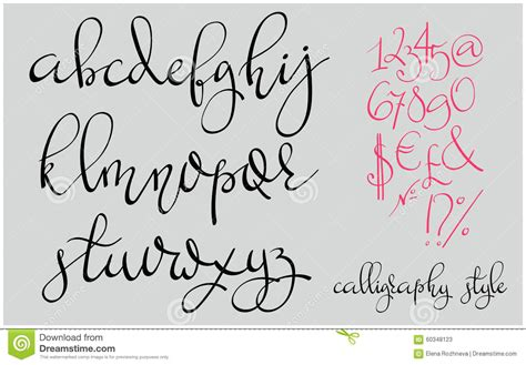 Wedding Border Symbol Fonts by Handwritten Pointed Pen Flourish Font Stock Illustration