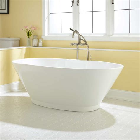 acrylic soaking bathtub 55 quot vada acrylic soaking tub acrylic tubs bathtubs