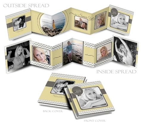 9 best images of mini accordion photo book templates
