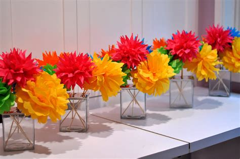 mexican paper flower tutorial fiesta party theme