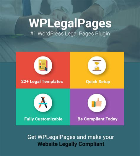 legal templates for pages wordpress privacy policy plugin legal pages generator