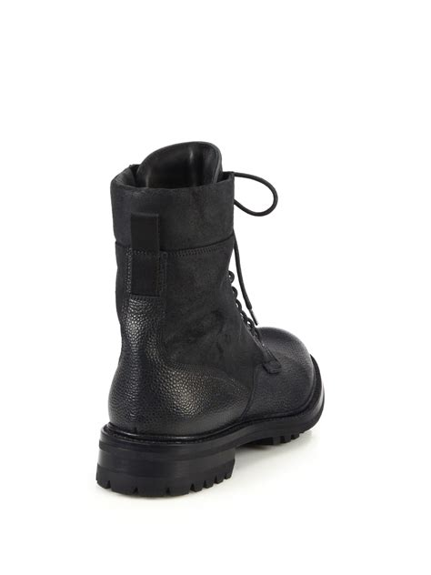 rag and bone boots mens rag bone spencer leather commando boots in black for