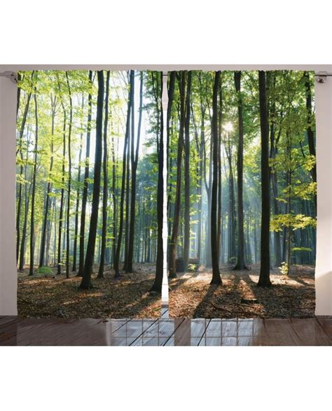 scenery window curtains scenery curtain sunbeams morning rays print 2 panel window