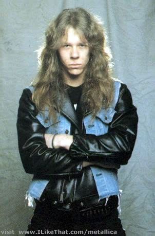 17 year old hairstylist cliff james hetfield 1982 one of james hetfield s first promo