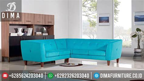Sofa Anak Terbaru sofa tamu minimalis sudut l terbaru jepara df 0295 dima
