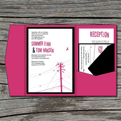 diy pocket wedding invitations wedding invitation diy pocketfold modern power lines