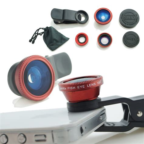 Fish Eye 3 In 1 Colour Fish Eye Warna Limited Lieqi Universal Clip Lens 3in1 Macro Fish Eye Wide