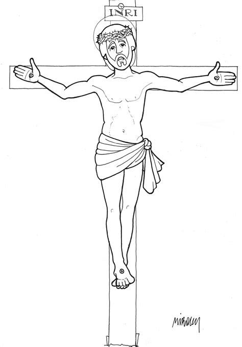 imagenes de jesus crucificado para colorear cristo dibujos y cosas para catequesis