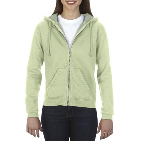 comfort colors celadon cc1598 comfort colors ladies full zip hooded sweatshirt