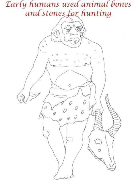Early Humans Coloring Page | early humans coloring pages coloring pages