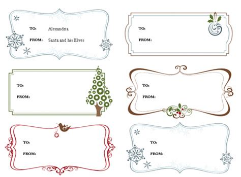 Personalized Gift Tag Template Gift Templates Gift Tag Template Free
