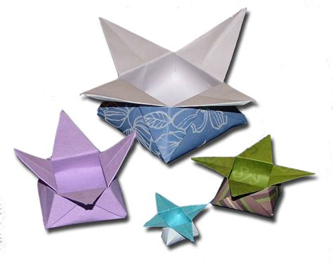 Folded Paper Craft - origami how to make a paper box that opens and closes