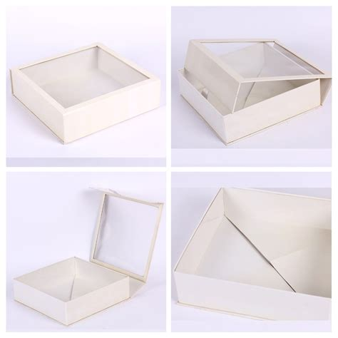 cardboard box with window simple design white cardboard box with window buy