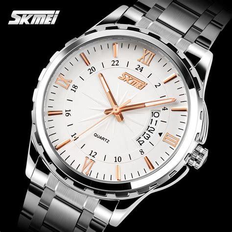 Jam Tangan Pria Elegan Skmei Casio Fashion 2010 skmei jam tangan analog pria 9069cs gold jakartanotebook