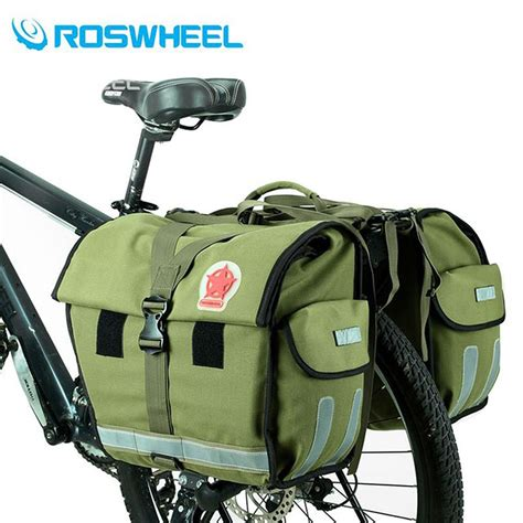 Bike Rack Bags Rear by Roswheel Retro Canvas Bicycle Carrier Bag 50l Rear Rack