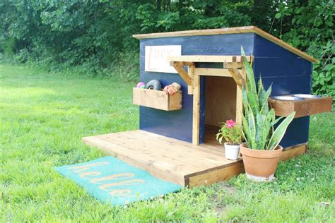 diy dog houses a new home for lucy modern diy dog house bigdiyideas com