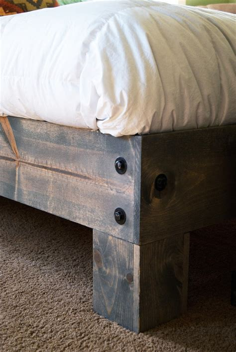 Diy Bed Platform Diy Platform Bed Salvaged Door Headboard Part One Averie Diy Platform Bed Salvaged