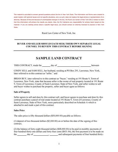 land contract template land contract template free create edit fill