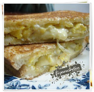 membuat roti bakar telur fiza nordin roti bakar berinti telur dadar cheese
