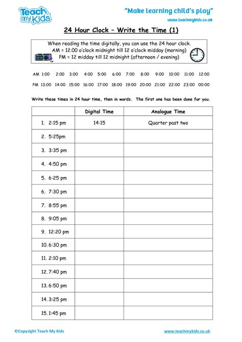 Pdf Ca Time Hours by 100 24 Hour Worksheets Easy Time