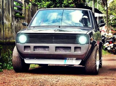 Maruti Suzuki 800 Modified Maruti 800 Ss80 Modified To Look Like Vw Golf Gti Mk1