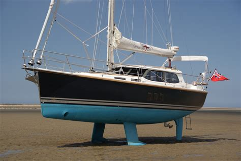 largest swing keel sailboat twin keels sirius decksaloon yachts
