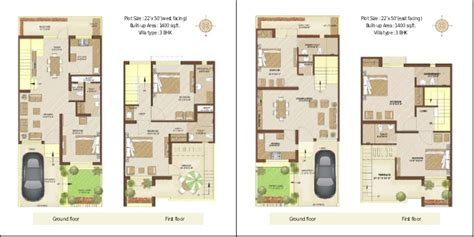 House Plan For 15 Feet By 60 Feet auric villa floor plan booklet