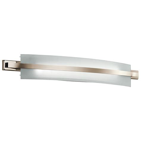 modern led bathroom lighting kichler 45088pnled freeport modern polished nickel led 36