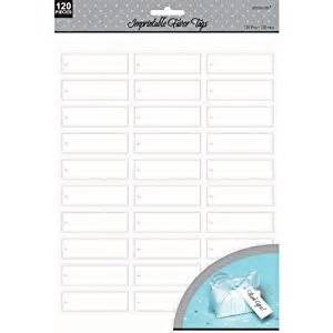 amscan templates imprintable favor tags white toys