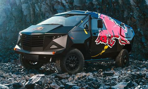 red bull reveals latest defender based event truck
