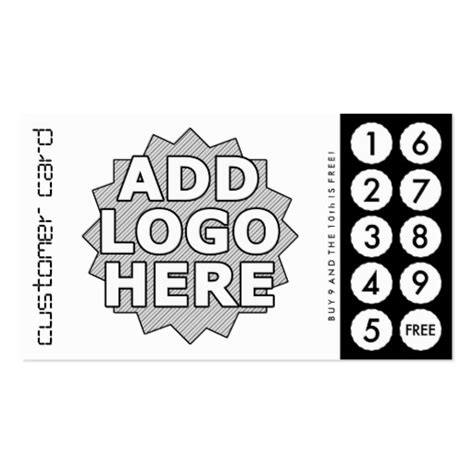 custom cut out punch cards double sided standard business