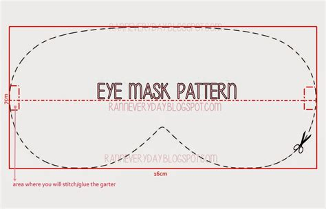 eye mask template diy project felt panda eye mask ranneveryday