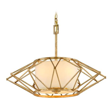 Leaf Pendant Light Troy Lighting Calliope Rustic Gold Leaf Pendant Light With Drum Shade F4864 Destination Lighting