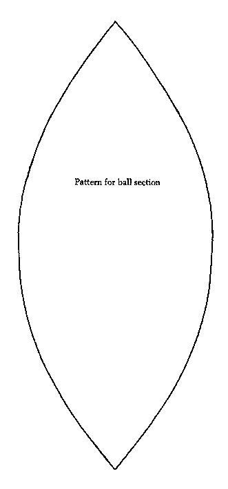 pattern for sewing a ball felt ball pattern six panel tutorial is for sewing but