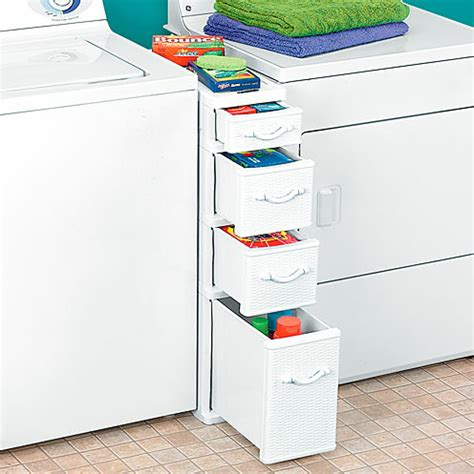 Wicker Between Washer Dryer Drawers   Traditional   Storage And Organization   by Taylor Gifts
