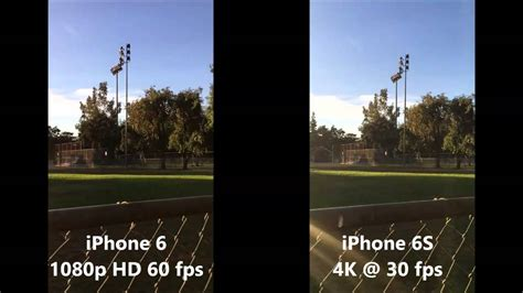 iphone 6s 4k vs iphone 6 1080p resolution