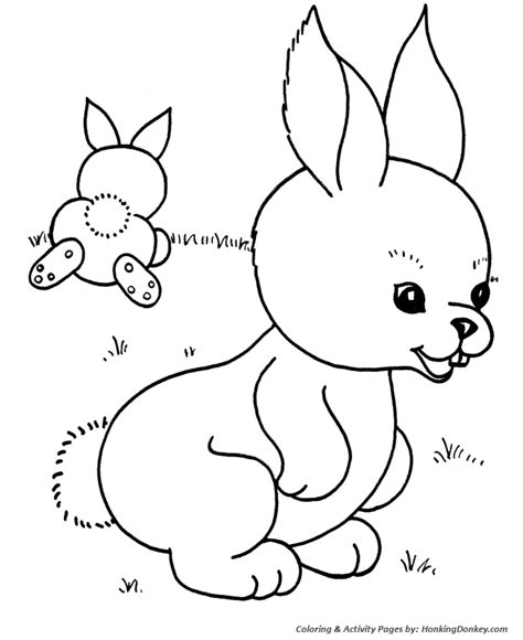 easter bunny coloring pages easter bunny rabbits