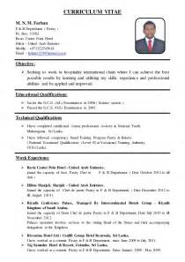 Sle Resume For Pastry Chef by Asst Pastry Chef Cv