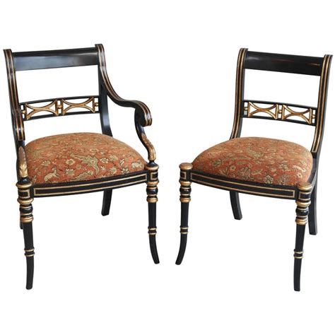 Maitland Smith Dining Chairs Set Of Six Maitland Smith Gilt Color Dining Chairs For Sale At 1stdibs