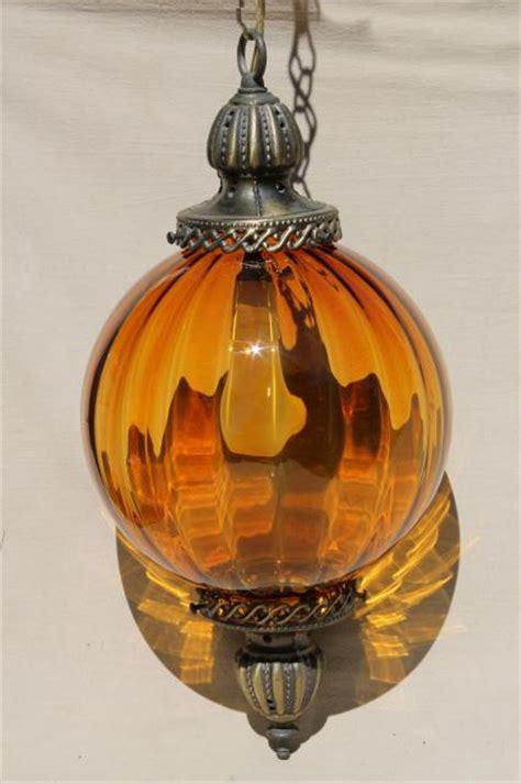large glow in the blown glass globe green vintage swag l hanging light pendant lantern w blown glass globe shade
