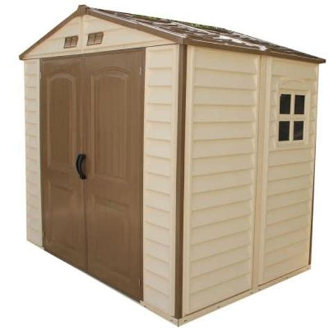 Vinyl Sheds Home Depot by Duramax Building Products Store All 8 Ft X 5 5 Ft Vinyl