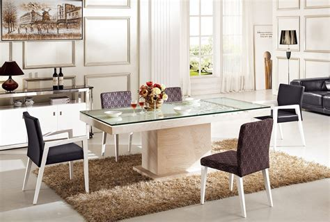 dining room fancy bend glass top dining tables cool black