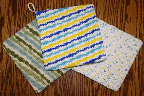 knit potholder pattern free thick potholder crochet pattern yay for yarn