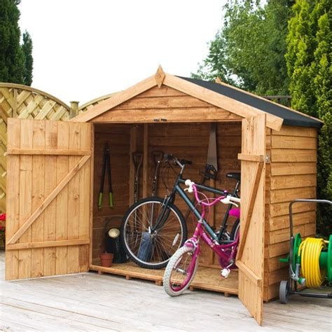 Timber Bike Sheds by 7 X 3 Waltons Overlap Apex Wooden Bike Shed