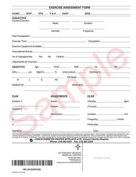 fitness appraisal template 100 assessment form template ach risk assessment